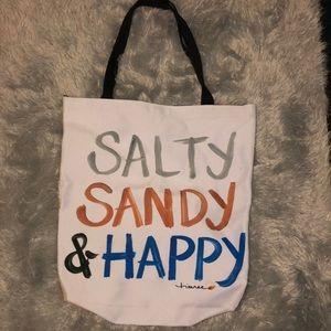 Handbags - Salty, Sandy, & Happy Beach Bag